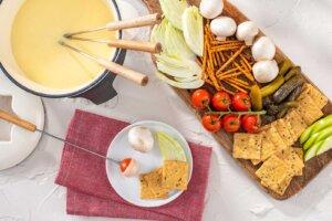 Hearty White Cheddar Fondue Platter Recipe