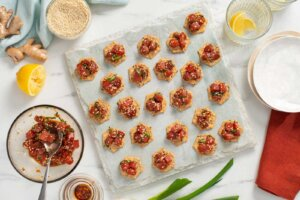 Spicy Tuna Poke Canapés Recipe
