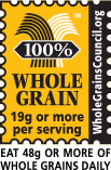 100% Whole Grain Certification logo.