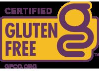 Purple Certified Gluten-Free logo.