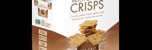Crunchmaster Multi-Grain Crisps in Sea Salt flavor in box.