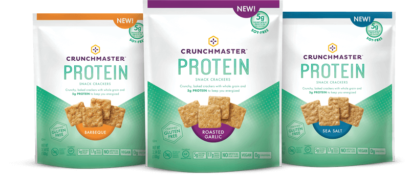 Introducing New Protein Snack Crackers.